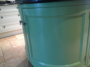 Kitchen cupboards hand painted to a super smooth finish