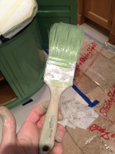 It pays to use a quality brush, this particular one is fantastic in oil based finishes. It is the Morro made by Corona.
