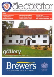 We appeared on the front page of The Decorator magazine with this project.
