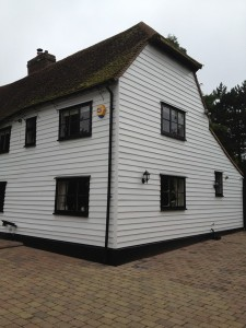 front and side elevations after painting