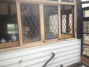 Leaded Window Before Repair